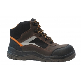 Chaussure de sécurité coupe haute SOLIDUR TAILLE 42 - Norme ISO 20345:2011 en nubuck et cordura