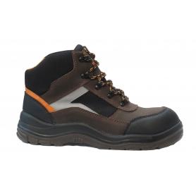 Chaussure de sécurité coupe haute SOLIDUR TAILLE 43 - Norme ISO 20345:2011 en nubuck et cordura