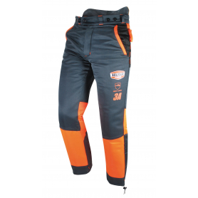 Pantalon de bûcheronnage multi-poches SOLIDUR Taille L (46/48) - Classe 3 - Norme CE EN381-5