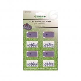 Kit de 36 lames pour robots tondeuses Flymo - Gardena - Husqvarna 9668095-01 - 5776064-02 - 5776064-03 - 577864602
