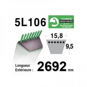 Courroie 5L1060 - 5L106 - MTD 754-0631 - 7540631 - 954-0631 - 9540631