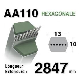 COURROIE AA110 - Courroie lisse héxagonale 2847 mm