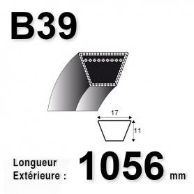 COURROIE B39 - TRAPÉZOIDALE 17 MM X 1056 MM