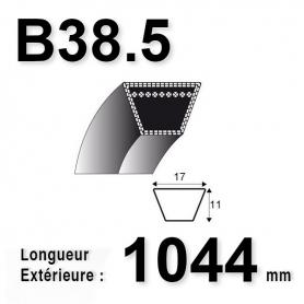 COURROIE B38.5 - TRAPÉZOIDALE 17 MM X 1044 MM