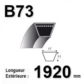 COURROIE B73 - TRAPÉZOIDALE 17 MM X 1920 MM