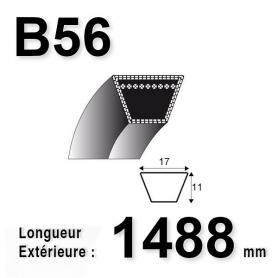 COURROIE B56 - TRAPÉZOIDALE 17 MM X 1488 MM