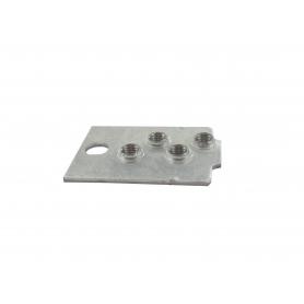 Support d'axe de roue gauche GGP - CASTELGARDEN 322785093/1