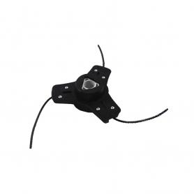 Tête à 3 fils nylon universelle débroussailleuse - Livrée avec un jeu complet de boulons écrous - rondelles - avec fils carré