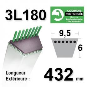 Courroie 9.5MM X 457MM - 3L18