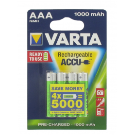 Blister de 4 accumulateurs rechargeables VARTA HR03