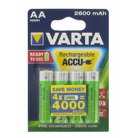 Blister de 4 accumulateurs rechargeables  VARTA HR06