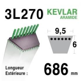 Courroie 3l27 - 9,5 mm x 686 mm