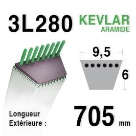 Courroie 3l28 - 9,5 mm x 705 mm