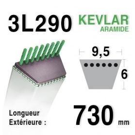 Courroie 3l29 - 9,5 mm x 730 mm