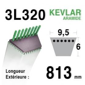 Courroie 3l32 - 9,5 mm x 813 mm