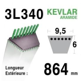Courroie 3l34 - 9,5 mm x 864 mm
