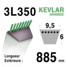 Courroie 3l35 - 9,5 mm x 885 mm