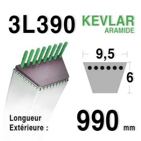 Courroie 3l39 - 9,5 mm x 990 mm