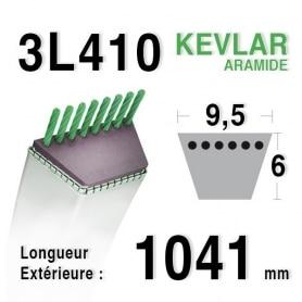 Courroie 3l41 - 9,5 mm x 1041 mm