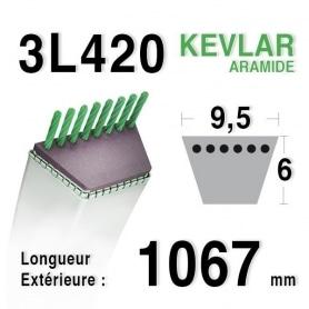 Courroie 3l42 - 9,5 mm x 1067 mm