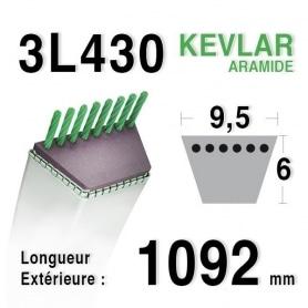 Courroie 3l43 - 9,5 mm x 1092 mm