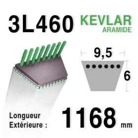 Courroie 3l46 - 9,5 mm x 1168 mm