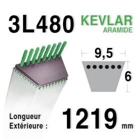 Courroie 3l48 - 9,5 mm x 1219 mm