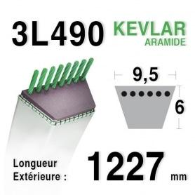 Courroie 3l49 - 9,5 mm x 1227 mm BOLENS 170146 - 170746