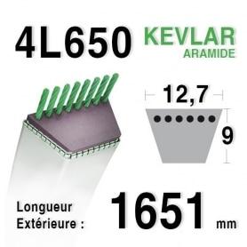 Courroie 4L650 - 4L65 MTD 754191 - 90-65-390 JOHN DEERE m82462 BOLENS 1738496-1722238 AYP - ROPER 358406-368406