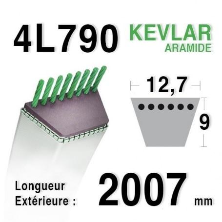 Courroie 4L790 - 4L79 AYP - ROPER 106085x - 161741 HUSQVARNA 532106085 - 532106085x MURRAY 37 x 59 MTD 7540349