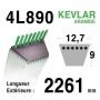 Courroie 4L890 - 4L89 HUSQVARNA - AMF - AYP - BERNARD LOISIRS - 124525 - 126520 -303241