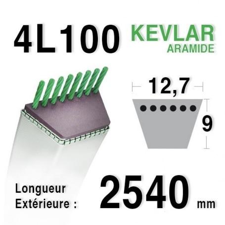 Courroie 4L1000 - 4L100 CASTELGARDEN - GGP 35062010/0 - 35062011/0 HONDA cg35062010h0 - cg35062001ho