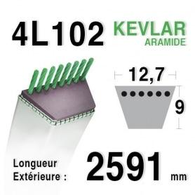 Courroie 4L1020 - 4L102 JOHN DEERE m110978 TORO 28-2650