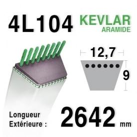 Courroie 4L1040 - 4L104 CASTELGARDEN - GPP - STIGA - 135062001/0 - 135062002/0
