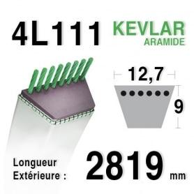Courroie 4L1110 - 4L111 AYP 165631 MTD 7540634 HUSQVARNA 531007551 - 532165631