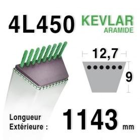 Courroie  4L450 - 4L45 HUSQVARNA 519650560 MTD 754-0111