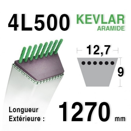Courroie 4L500 - 4L50 AYP - ROPER 110975 MURRAY 37 x 44