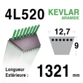 Courroie 4L520 - 4L52 MTD 7540229 BOLENS 1724261