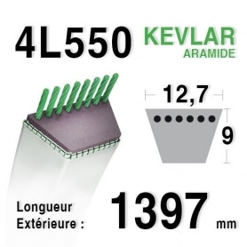 Courroie 4L550 - 4L55 MURRAY 37x12 - 21649/ 37x36 WHEEL HORSE 8976 - 104388 - 104865