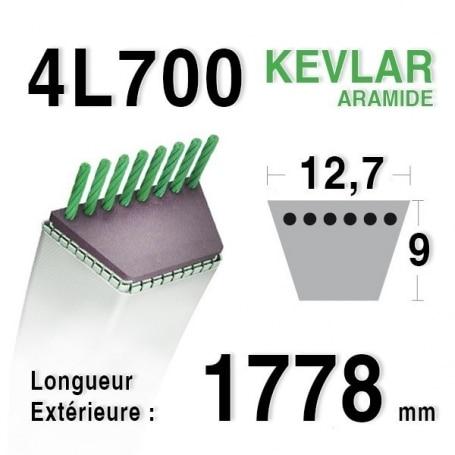 Courroie 4L700 - 4L70 AYP - ROPER 362828 d3 ra - 62828 - 108505 SIMPLICITY 1713549