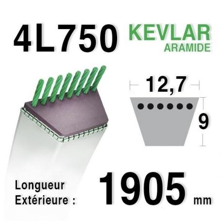 Courroie 4L750 - 4L75 COUNTAX 22906300