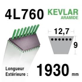 Courroie 4L760 - 4L76 MTD 7540441 HUSQVARNA 531005017 - 506768501
