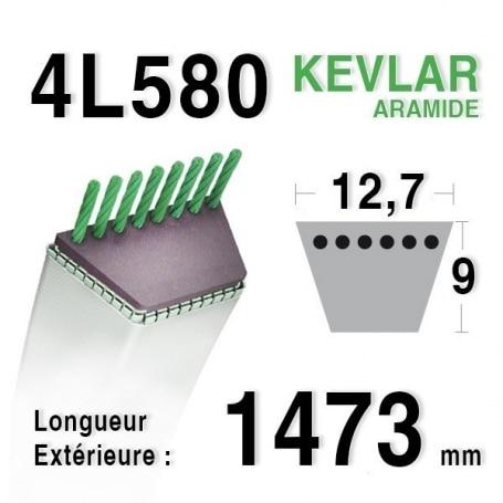 Courroie 4L580 - 4L58 MURRAY 37x24 - WHEEL HORSE 8975