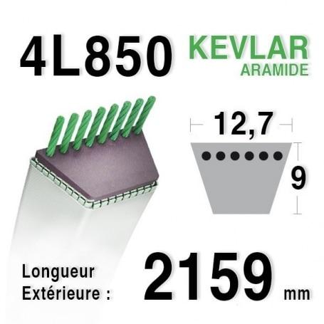 Courroie 4L850 - 4L85 AYP 140218 AMF - NOMA 57214 - 141482 HUSQVARNA 506660301 MURRAY 21614 - 37 x 10