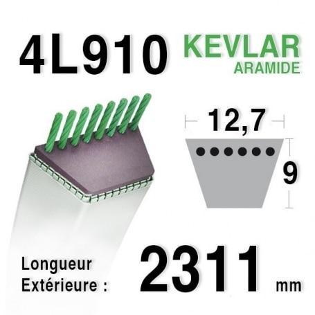 Courroie 4L910 - 4L91 SIMPLICITY - PAGET 11655069