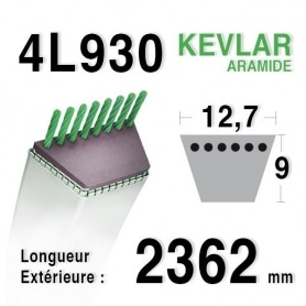 Courroie 4L930 - 4L93 AYP - ROPER 120301 - 180215 AMF - NOMA 303243 MURRAY 37 x 31 JOHN DEERE m112674