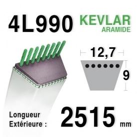 Courroie 4L990 - 4L99 JOHN DEERE m49920 - m72683 MTD 7540440 MOTOSTANDARD 75273 - 75279 MURRAY 37x22 - 23749