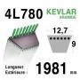 Courroie 4L780 - 4L78 HUSQVARNA 532131264 - 531005026 AYP 131264 SIMPLICITY 108508 -1713515 COUNTAX 22919900