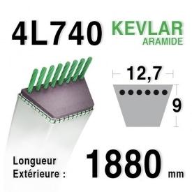 Courroie 4L740 - 4L74 AYP - ROPER 8845 MTD - MOTOSTANDARD 75239 MURRAY 23496 - 37x19