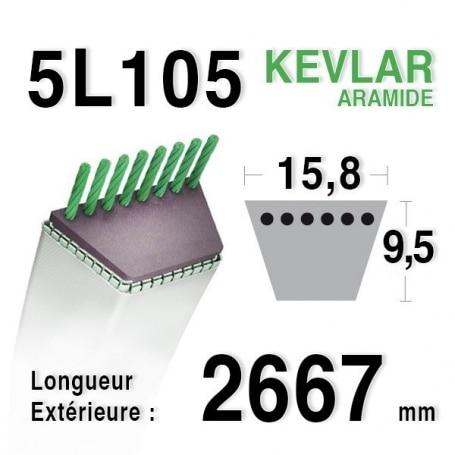Courroie 5L1050 - 5L105 MTD 75404069 - 7540631